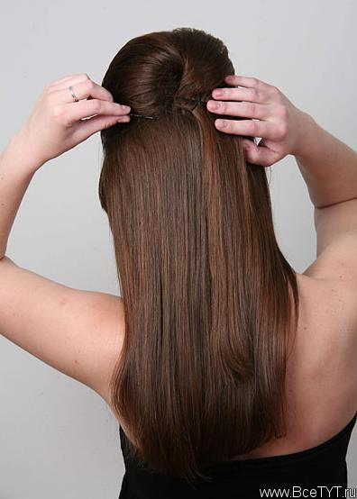 Как поднять макушку волосы