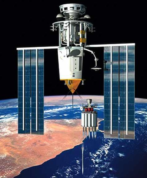Кинетическое оружие космического базирования в представлении американских военных (иллюстрация с сайта popsci.com).